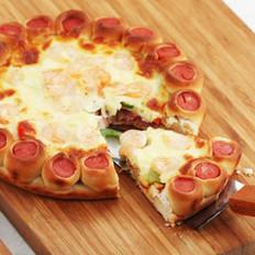 虾仁培根花边披萨