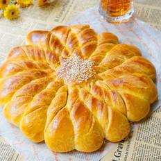 炼奶扭结面包花的做法