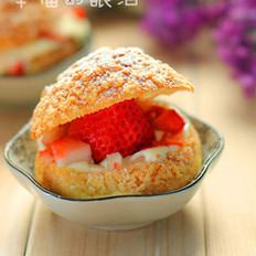 草莓脆皮泡芙