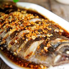 金银蒜蒸偏口鱼