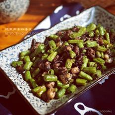 榄菜肉丁四季豆