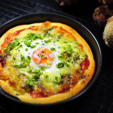 鸡蛋披萨&辫子面包