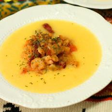 意式虾仁玉米粥
