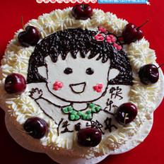 樱桃小丸子蛋糕的做法