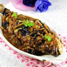 肉丁榨菜烧黄花鱼
