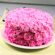 玫瑰奶油蛋糕