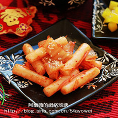 辣白菜炒年糕