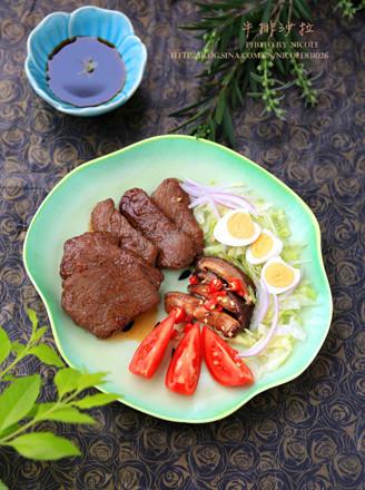 煎牛排沙拉的做法