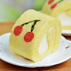 樱桃奶油蛋糕卷