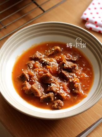 无油番茄炖牛肉的做法