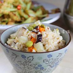 杂菜糙米饭的做法