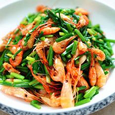 河虾炒韭苔