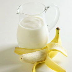 牛奶+香蕉=润肠通便