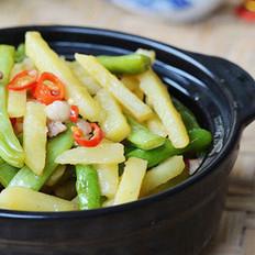 四季豆焖土豆的做法