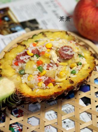 菠萝鸡饭的做法