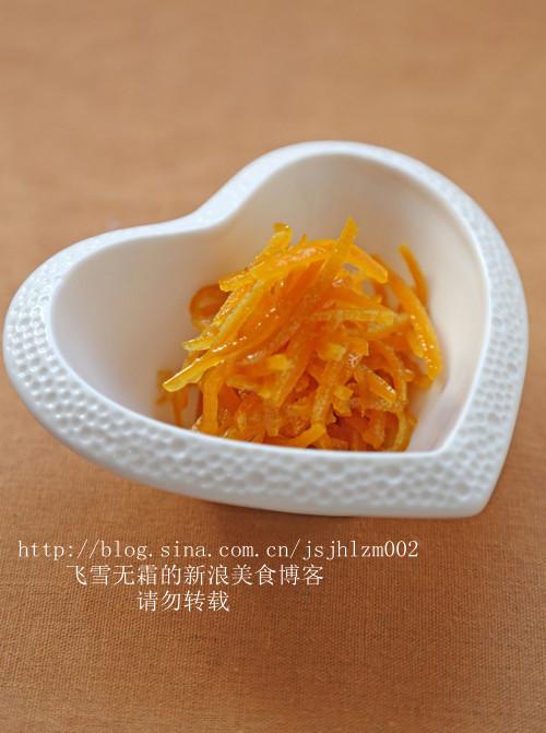 蜜渍橙皮的做法