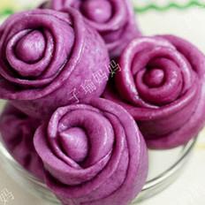 紫薯玫瑰花饅頭