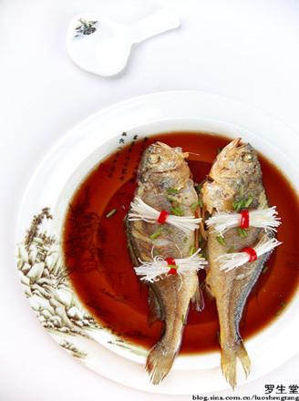 煎蒸黄鱼的做法