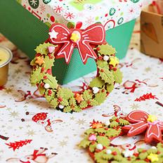 圣诞花环饼干的做法