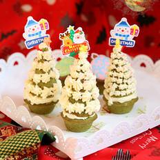 圣诞树小蛋糕的做法