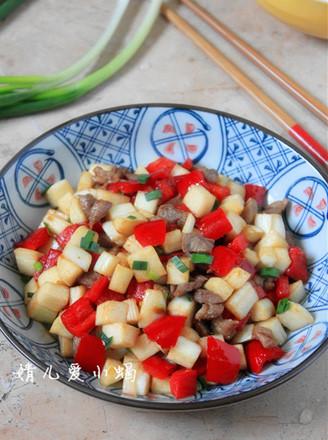 红椒炒茭白的做法