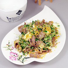 羊肉片炒小米