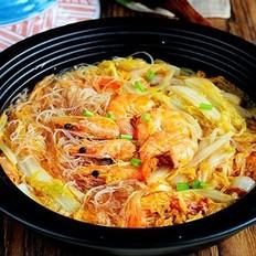 鲜虾娃娃菜砂锅