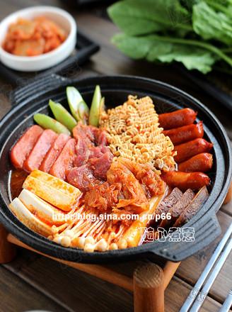 韩国部队锅的做法