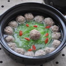 萝卜丝汆羊肉丸子