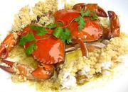 咸肉蒸白蟹