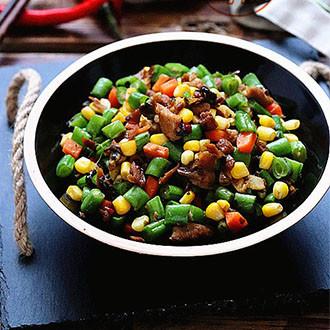 外婆菜肉末炒杂蔬