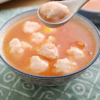番茄虾滑汤