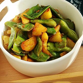 土豆炒油豆角