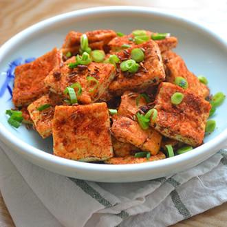 铁板孜然豆腐