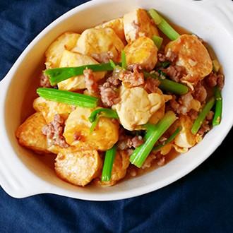 肉末烧玉子豆腐