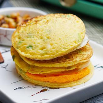 香菇鸡蛋葱花饼
