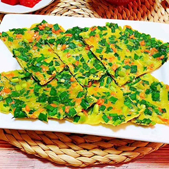 韭菜煎蛋饼