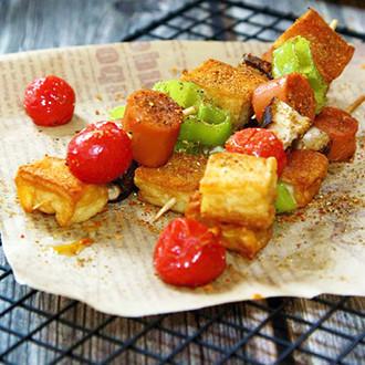 鱼豆腐蔬菜烤串