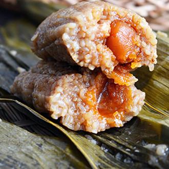 咸蛋黄鲜肉粽