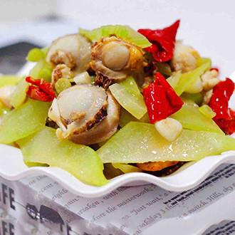 扇貝萵苣小炒